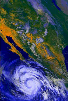 Weather - Hurricane Linda in 1997